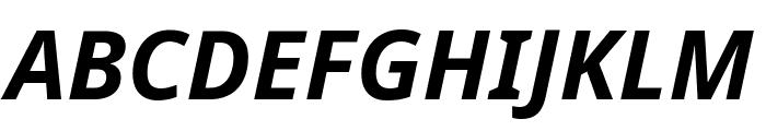 Noto Sans Bold Italic Font UPPERCASE
