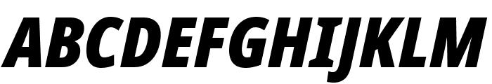 Noto Sans Condensed Black Italic Font UPPERCASE