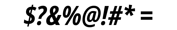 Noto Sans Condensed Bold Italic Font OTHER CHARS
