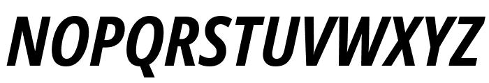 Noto Sans Condensed Bold Italic Font UPPERCASE