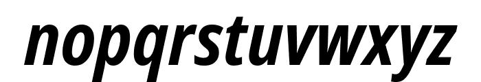 Noto Sans Condensed Bold Italic Font LOWERCASE