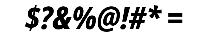Noto Sans Condensed ExtraBold Italic Font OTHER CHARS