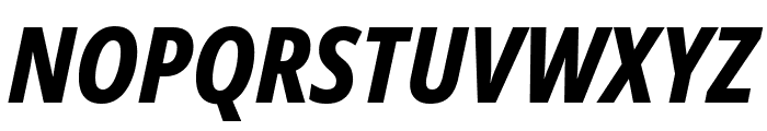 Noto Sans Condensed ExtraBold Italic Font UPPERCASE