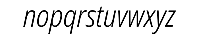 Noto Sans Condensed Light Italic Font LOWERCASE