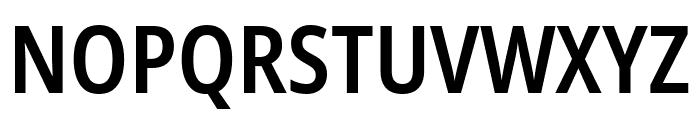 Noto Sans Condensed SemiBold Font UPPERCASE