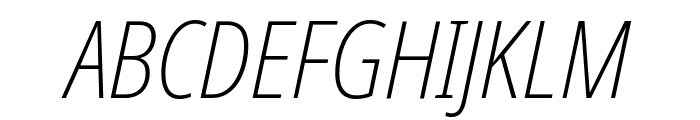 Noto Sans Display Condensed ExtraLight Italic Font UPPERCASE