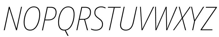 Noto Sans Display SemiCondensed Thin Italic Font UPPERCASE