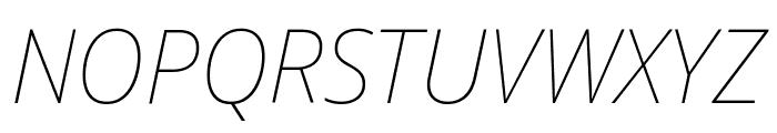 Noto Sans Display Thin Italic Font UPPERCASE