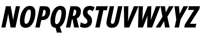 Noto Sans ExtraCondensed ExtraBold Italic Font UPPERCASE