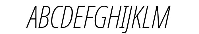 Noto Sans ExtraCondensed ExtraLight Italic Font UPPERCASE