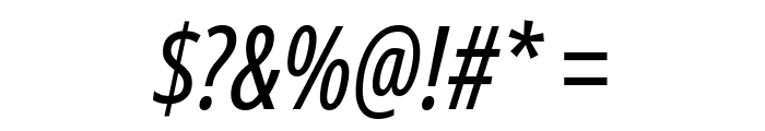 Noto Sans ExtraCondensed Italic Font OTHER CHARS