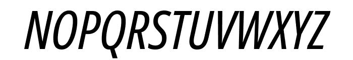 Noto Sans ExtraCondensed Italic Font UPPERCASE
