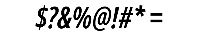 Noto Sans ExtraCondensed SemiBold Italic Font OTHER CHARS
