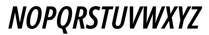 Noto Sans ExtraCondensed SemiBold Italic Font UPPERCASE