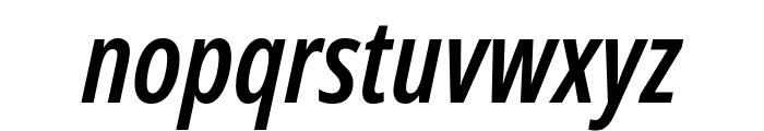 Noto Sans ExtraCondensed SemiBold Italic Font LOWERCASE