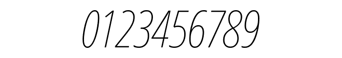 Noto Sans ExtraCondensed Thin Italic Font OTHER CHARS