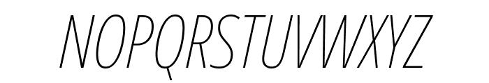 Noto Sans ExtraCondensed Thin Italic Font UPPERCASE