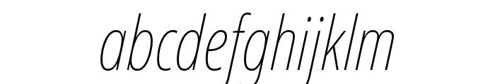 Noto Sans ExtraCondensed Thin Italic Font LOWERCASE