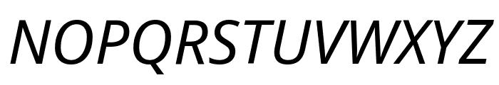 Noto Sans Italic Font UPPERCASE