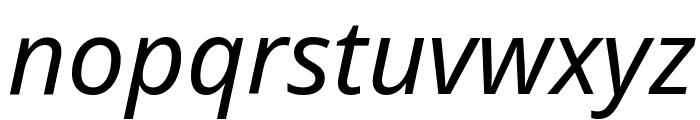 Noto Sans Italic Font LOWERCASE