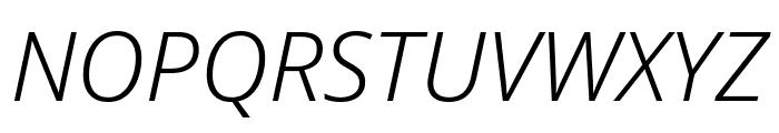 Noto Sans Light Italic Font UPPERCASE
