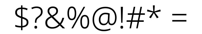 Noto Sans Light Font OTHER CHARS