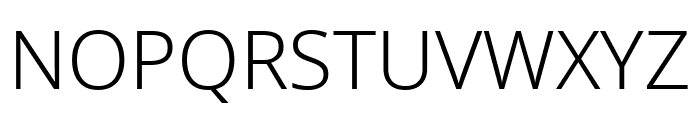 Noto Sans Light Font UPPERCASE