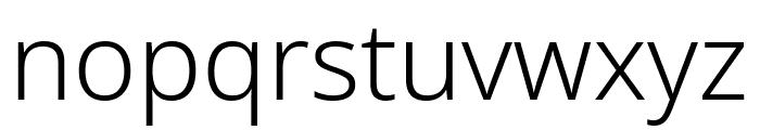 Noto Sans Light Font LOWERCASE