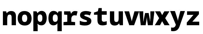 Noto Sans Mono Black Font LOWERCASE