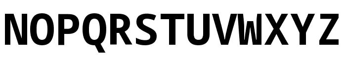 Noto Sans Mono Bold Font UPPERCASE