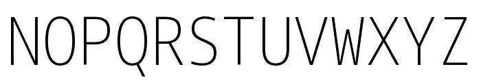 Noto Sans Mono Condensed ExtraLight Font UPPERCASE