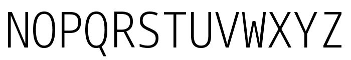Noto Sans Mono Condensed Light Font UPPERCASE