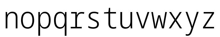 Noto Sans Mono Condensed Light Font LOWERCASE