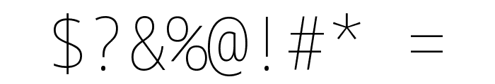 Noto Sans Mono Condensed Thin Font OTHER CHARS