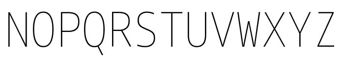 Noto Sans Mono Condensed Thin Font UPPERCASE