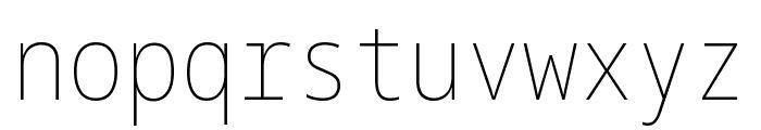 Noto Sans Mono Condensed Thin Font LOWERCASE