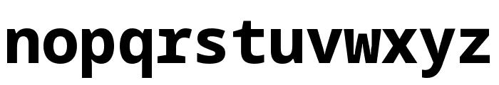 Noto Sans Mono ExtraBold Font LOWERCASE