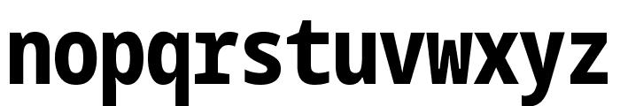 Noto Sans Mono ExtraCondensed ExtraBold Font LOWERCASE