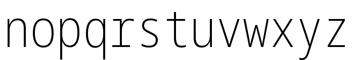 Noto Sans Mono ExtraCondensed ExtraLight Font LOWERCASE