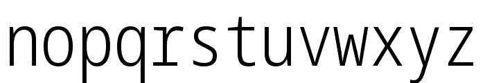 Noto Sans Mono ExtraCondensed Light Font LOWERCASE