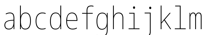 Noto Sans Mono ExtraCondensed Thin Font LOWERCASE