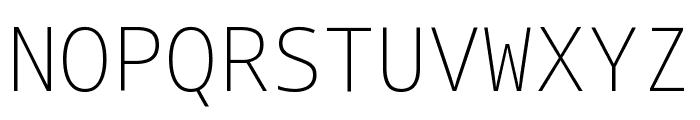Noto Sans Mono ExtraLight Font UPPERCASE