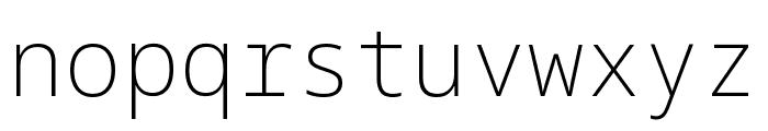 Noto Sans Mono ExtraLight Font LOWERCASE