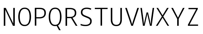 Noto Sans Mono Light Font UPPERCASE