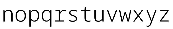 Noto Sans Mono Light Font LOWERCASE
