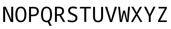 Noto Sans Mono Regular Font UPPERCASE