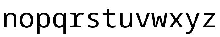Noto Sans Mono Regular Font LOWERCASE