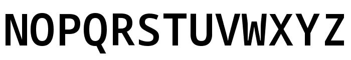 Noto Sans Mono SemiBold Font UPPERCASE