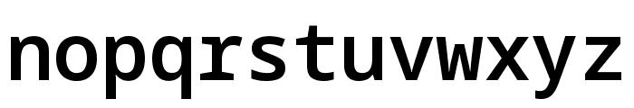 Noto Sans Mono SemiBold Font LOWERCASE