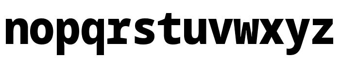Noto Sans Mono SemiCondensed Black Font LOWERCASE